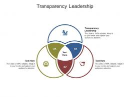 Transparency Leadership Ppt Powerpoint Presentation Show Styles Cpb