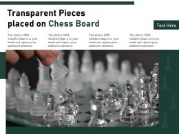 Transparent Pieces Placed On Chess Board