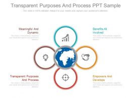 Transparent Purposes And Process Ppt Sample