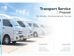 Transport Service Proposal Powerpoint Presentation Slides