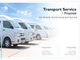 Transport Service Proposal Powerpoint Presentation Slides