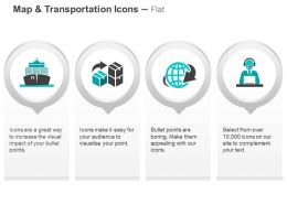 Transport Ship Goods Transfer Global Shipping Management Ppt Icons Graphics