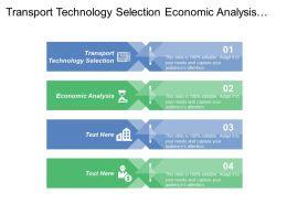 Transport Technology Selection Economic Analysis System Description Capital Costs