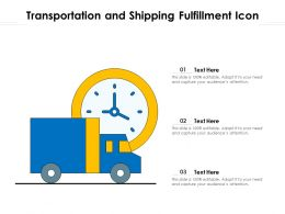 Transportation And Shipping Fulfillment Icon