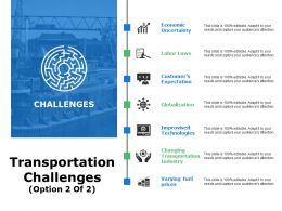 Transportation Challenges Ppt Gallery Diagrams