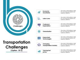 Transportation Challenges Ppt Gallery Icon