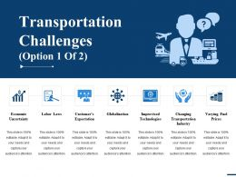 Transportation Challenges Ppt Gallery Ideas