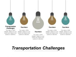 Transportation Challenges Ppt Powerpoint Presentation Inspiration Templates Cpb