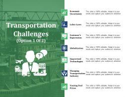 Transportation Challenges Ppt Slide Examples