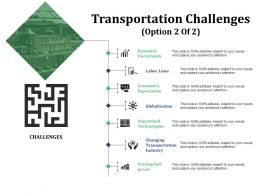 Transportation Challenges Ppt Slide Themes