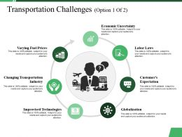 Transportation Challenges Ppt Summary Guidelines