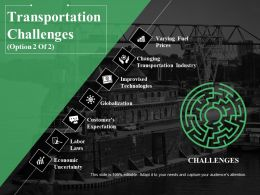 Transportation Challenges Ppt Summary Ideas