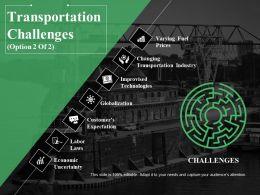 Transportation Challenges Ppt Summary Ideas
