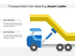 Transportation Icon Depicting Airport Ladder