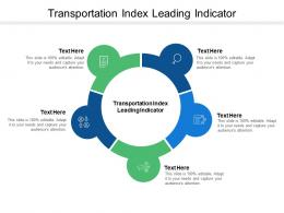 Transportation Index Leading Indicator Ppt Powerpoint Presentation Layouts Gallery Cpb
