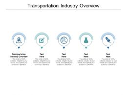 Transportation Industry Overview Ppt Powerpoint Presentation Portfolio Example File Cpb