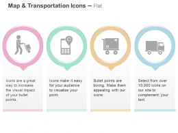 Transportation Location Finder Load Delivery Ppt Icons Graphics