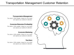 Transportation Management Customer Retention Profitability Customer Marketing Workplace Learning Cpb
