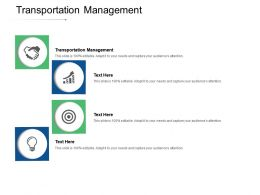 Transportation Management Ppt Powerpoint Presentation Pictures Themes Cpb