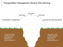 Transportation Management Service Part Planning Logistic Supply Chain Analytics