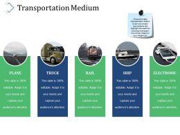Transportation Medium Ppt Sample Presentations