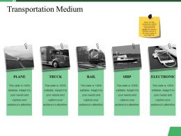 Transportation Medium Ppt Summary Images