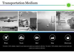 Transportation Medium Presentation Visual Aids