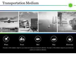 Transportation Medium Presentation Visual Aids