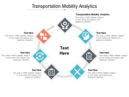 Transportation Mobility Analytics Ppt Powerpoint Presentation Professional Pictures Cpb