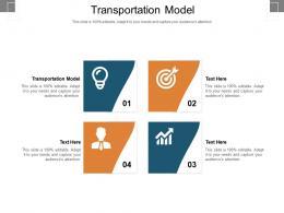 Transportation Model Ppt Powerpoint Presentation Ideas Background Cpb