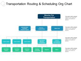 Transportation Routing And Scheduling Org Chart