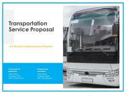 Transportation Service Proposal Powerpoint Presentation Slides