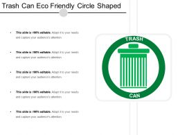 Trash Can Eco Friendly Circle Shaped