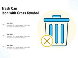 Trash Can Icon With Cross Symbol
