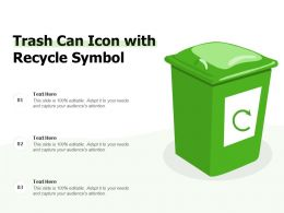 Trash Can Icon With Recycle Symbol