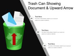 Trash Can Showing Document And Upward Arrow