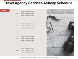 Travel Agency Services Activity Schedule Ppt Powerpoint Presentation Aids