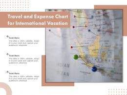 Travel And Expense Chart For International Vacation