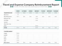 Travel And Expense Company Reimbursement Report