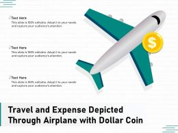 Travel And Expense Depicted Through Airplane With Dollar Coin
