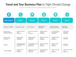 Travel And Tour Business Plan To Fight Climate Change