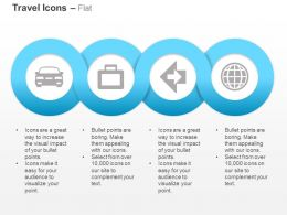 Travel Bag Car Across The World Ppt Icons Graphics