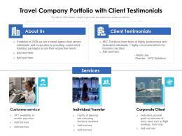 Travel Company Portfolio With Client Testimonials