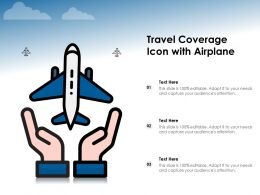 Travel Coverage Icon With Airplane