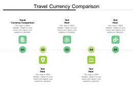 Travel Currency Comparison Ppt Powerpoint Presentation Outline Designs Cpb