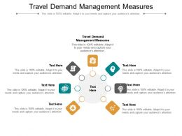 Travel Demand Management Measures Ppt Powerpoint Presentation Ideas Influencers Cpb