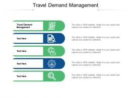 Travel Demand Management Ppt Powerpoint Presentation Portfolio Images Cpb