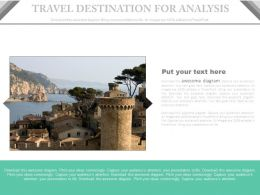 Travel Destination For Tour Analysis Flat Powerpoint Design