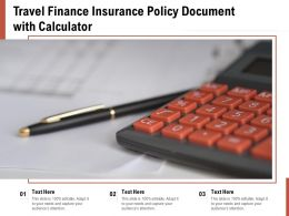 Travel Finance Insurance Policy Document With Calculator