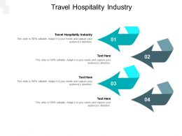 Travel Hospitality Industry Ppt Powerpoint Presentation Pictures Design Inspiration Cpb